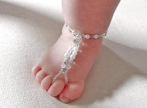 Toddler - Crystal Pearl Barefoot Sandal