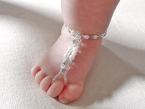 Child - Crystal Pearl Barefoot Sandal
