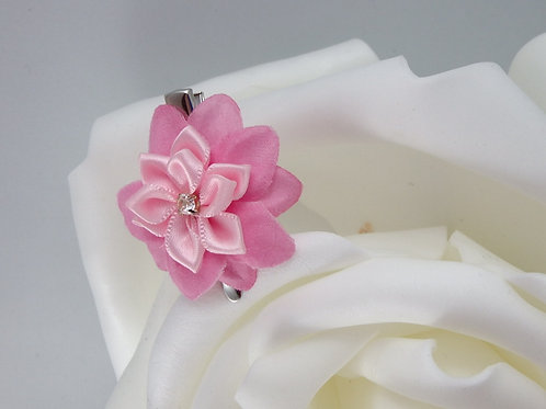 Pink - Flower Hair Clips 2 PC Set