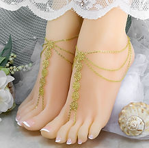 Gold Chain Barefoot Sandals