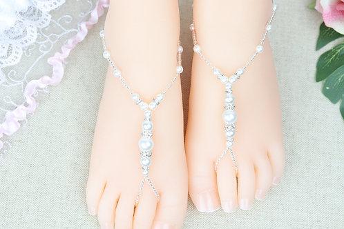 Jr Bianca Silver - Pearl Rhinestone Sandal