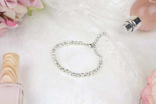 Diana - Crystal Rhinestones Silver Chain
