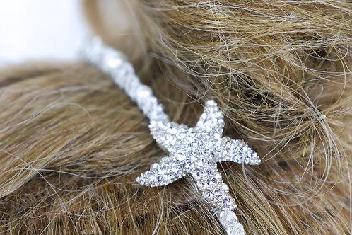 Head Band - Swarovski Starfish Crystal Pearls