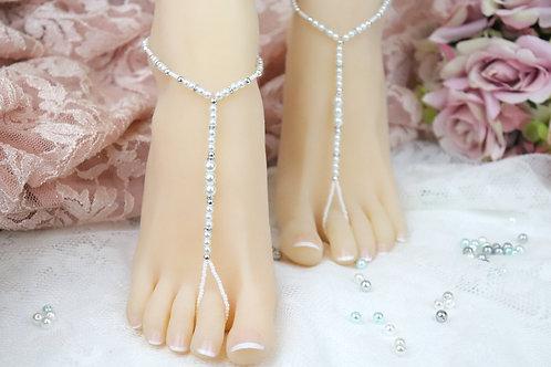 Olivia - Pearl Barefoot Sandal