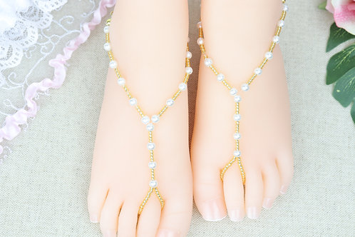 Summer - Baby Gold Pearl Sandal