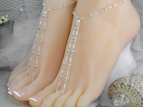 Celine - Swarovski Crystal Barefoot Sandal