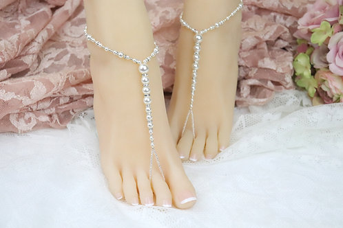 Annabelle II - Swarovski Pearl Barefoot Sandal