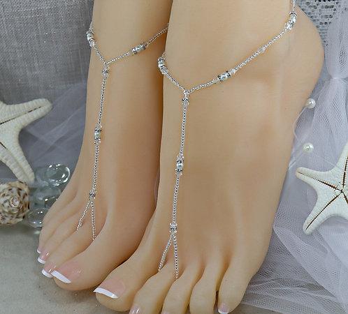 Anahita II - Swarovski Bead Barefoot Sandal