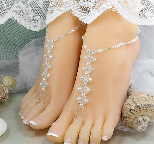 Juliet - Swarovski Bead Barefoot Sandal
