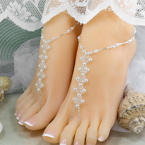 Juliet - Crystal Bead Barefoot Sandal
