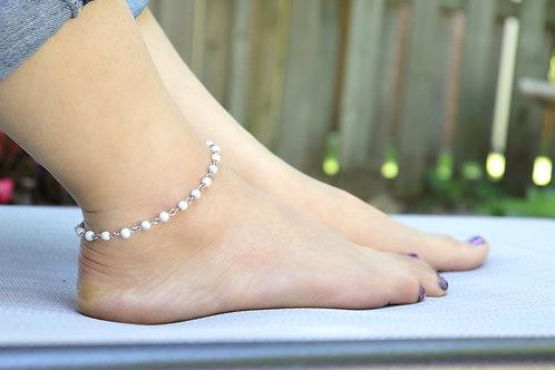 Anklet - Natural Howlite Stone
