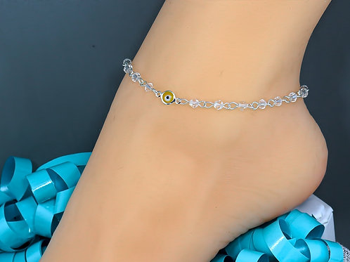 Yellow Evil Eye Wholesale Anklet