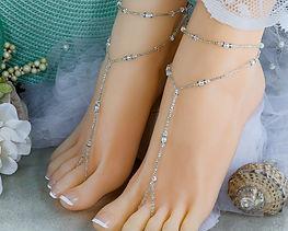 Crystal Bead Barefoot Sandals