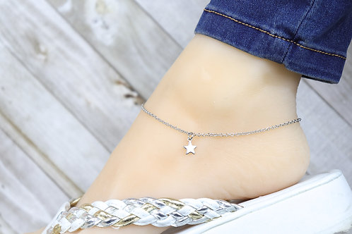 Anklet - Silver Mini Star Charm