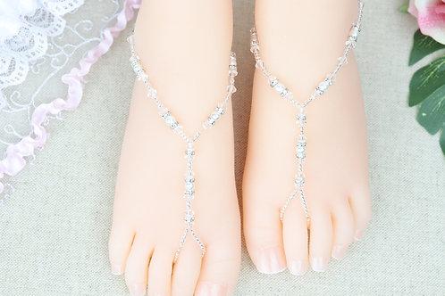 Anahita II - Baby Silver Swarovski Crystal Sandal
