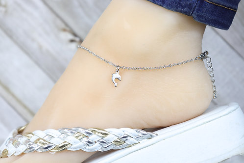 Anklet - Silver Dolphin Charm
