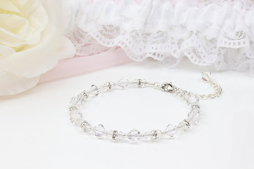 Lillie II Silver - Swarovski Crystal Bracelet