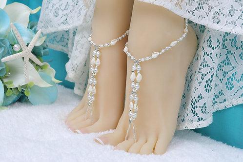 Adella - Real Shell Barefoot Sandal