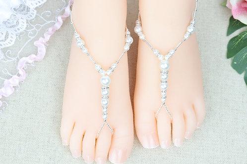 Baby Calista Silver - Pearl Rhinestone Sandal