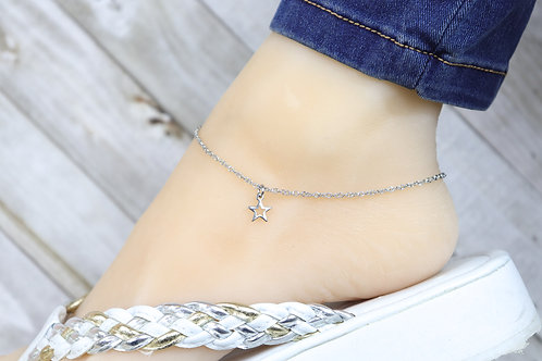 Anklet - Silver Mini Star Charm