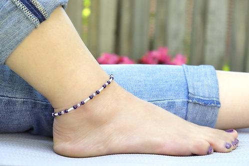 Anklet - Purple Pearl