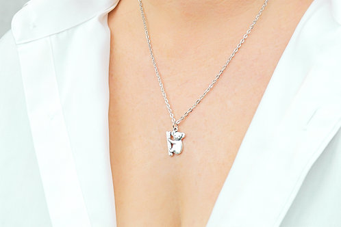 Koala Bear - Silver Necklace