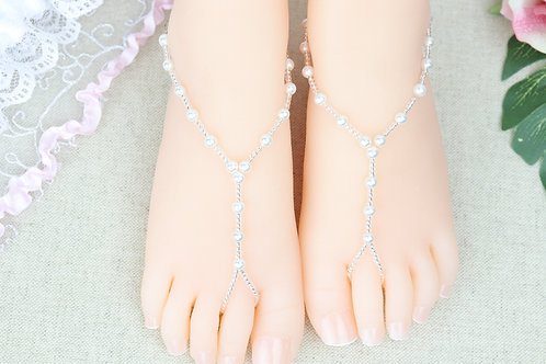 Summer - Child Silver Pearl Sandal