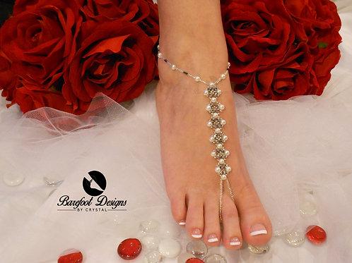 Wedding Day - Pearl Bridal Barefoot Sandal