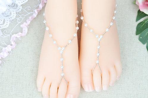 Jr Summer - Light Rose Gold Pearl Sandal