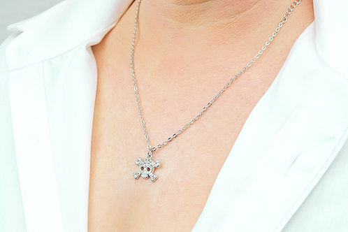 Skull & Cross Bone - Silver Necklace