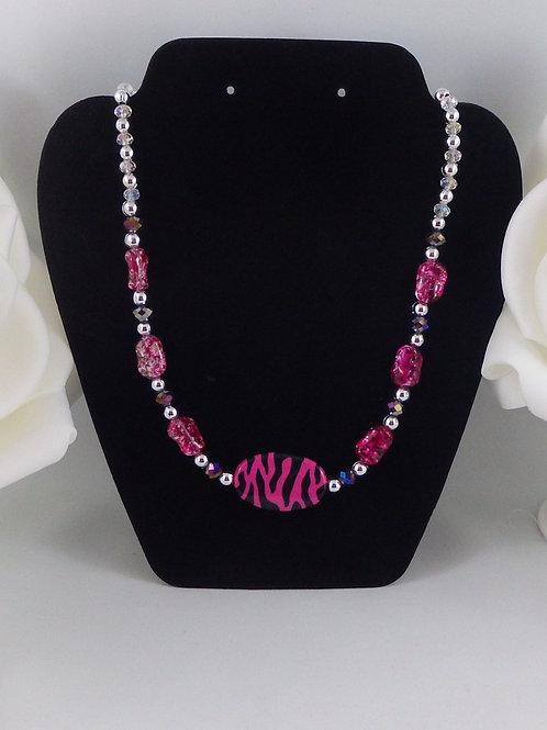 Pink Safari Children's Dress Up Necklace