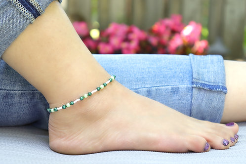 Anklet - Green Pearl