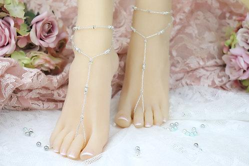 Anahita - Swarovski Bead Barefoot Sandal