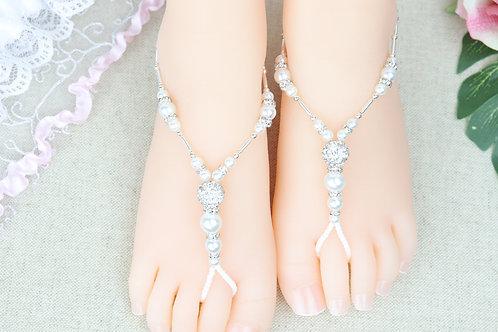 Elena - Baby Pearl Rhinestone Sandal