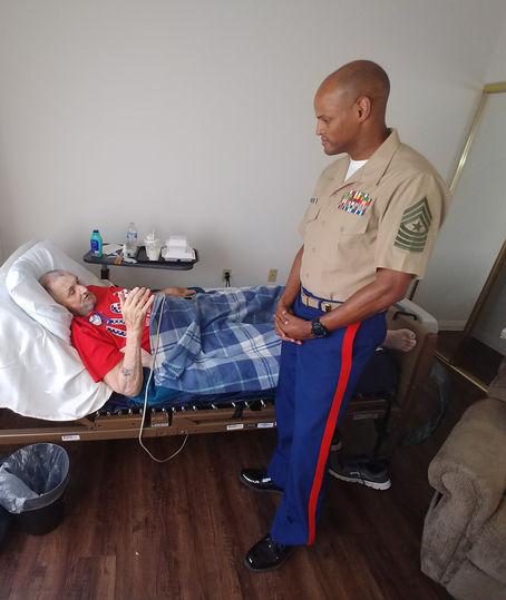 Marine with Veteran