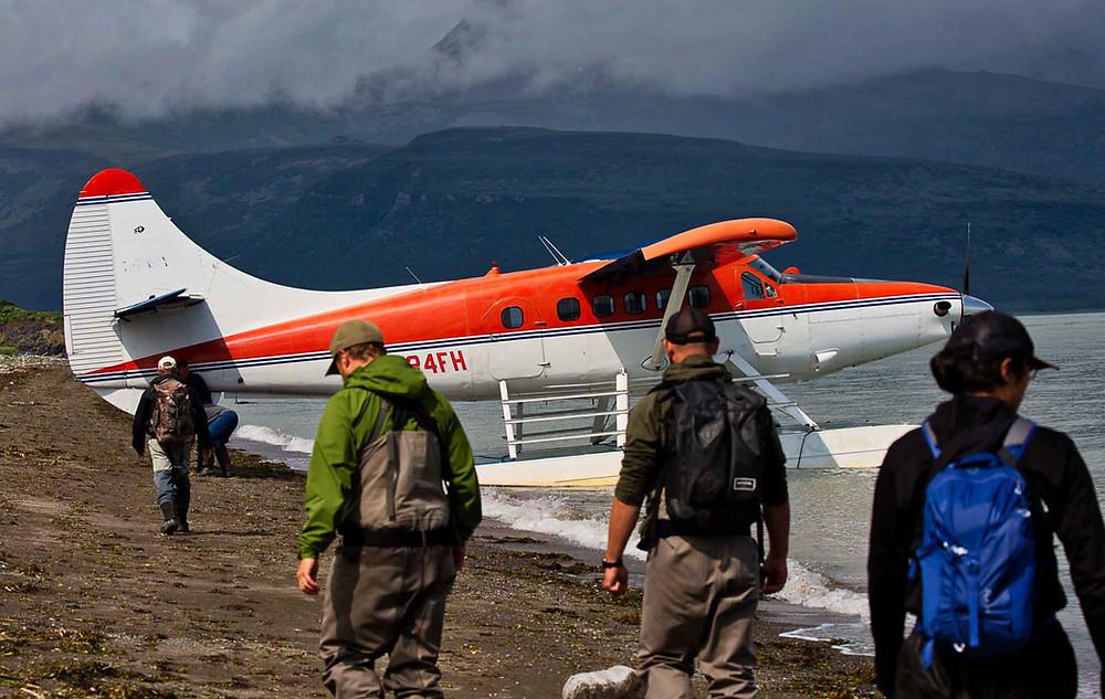 Turbine De Havilland Otter Float Plane in Katmai National Park and Preserve