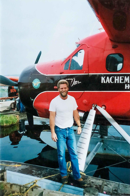Ken Day in front of the Kachemak Air Service Otter