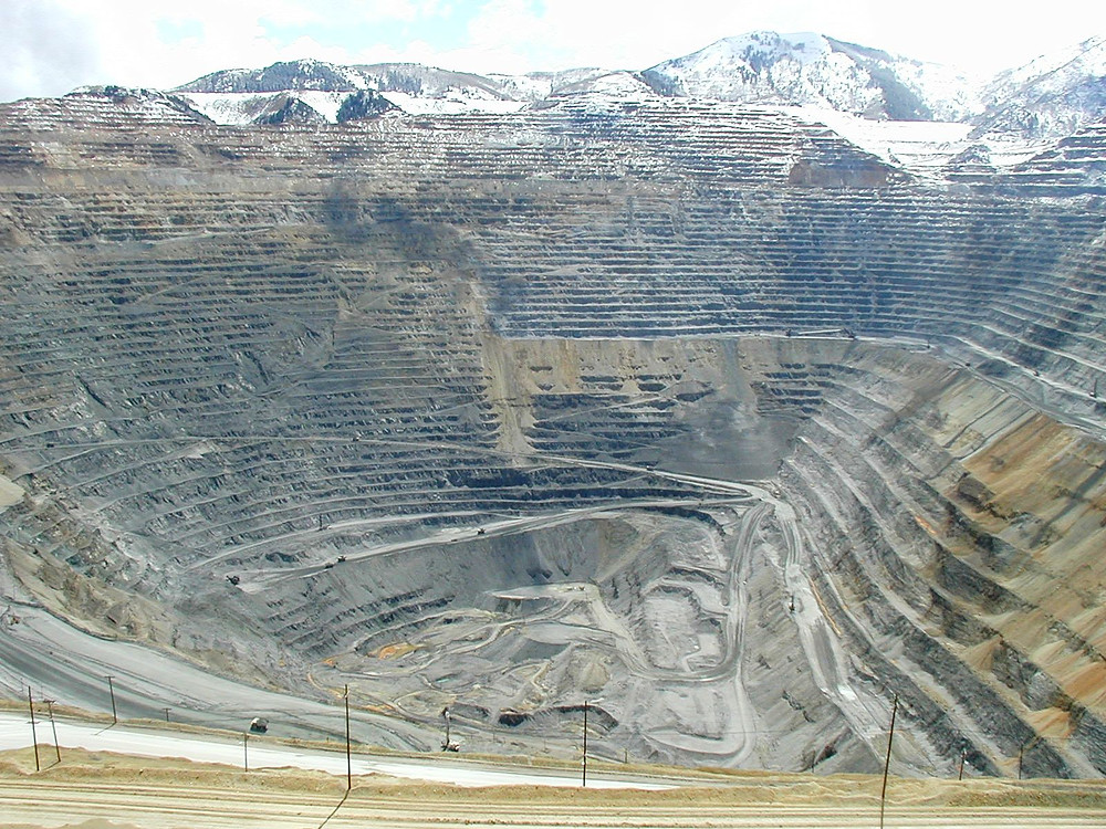 Bingham Canyon copper mine, UT, USA.