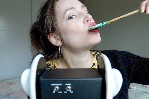 Mp3 Solfrid ASMR Intense Mouth Sounds Eating a Lollipop Chupa Chups