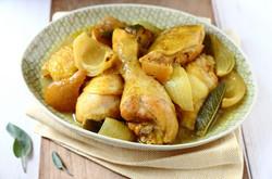 poulet au citron confit : 7.50€/part