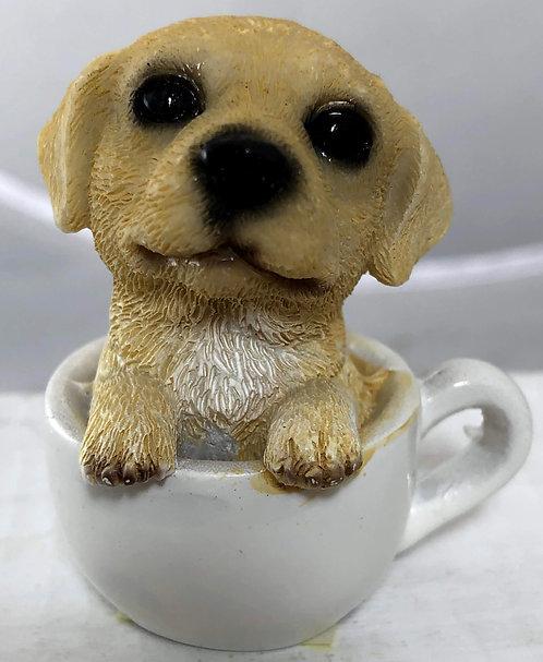 Mini Yellow Labrador Retriever in a Tea Cup