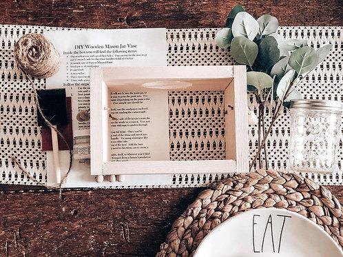 DIY Wooden Mason Jar Vase Kit