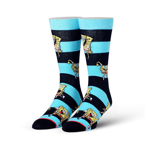 Spongebob Emotions Striped Socks