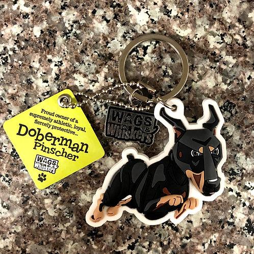Doberman Pinscher Keychain