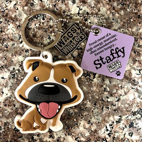 Staffy (Staffordshire Bull Terrier) Keychain