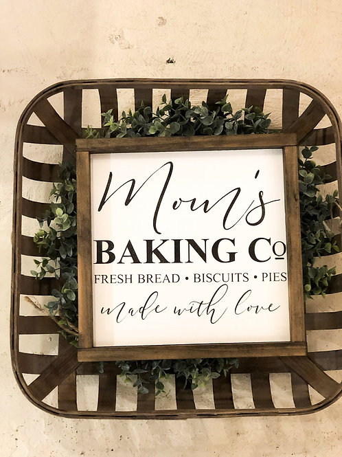 Mom's Baking Co. - Hand Painted Sign