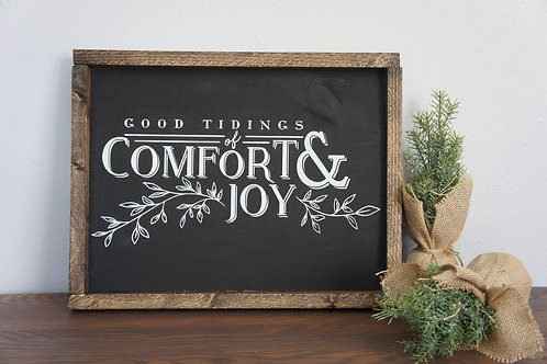 Good Tidings of Comfort and Joy - Hand Painted Sign