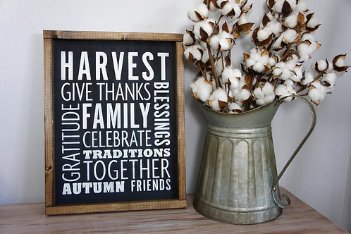 Fall Harvest - Hand Painted Sign