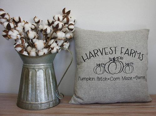 Harvest Farms Pumpkins - Hand Painted Decorative Pillow