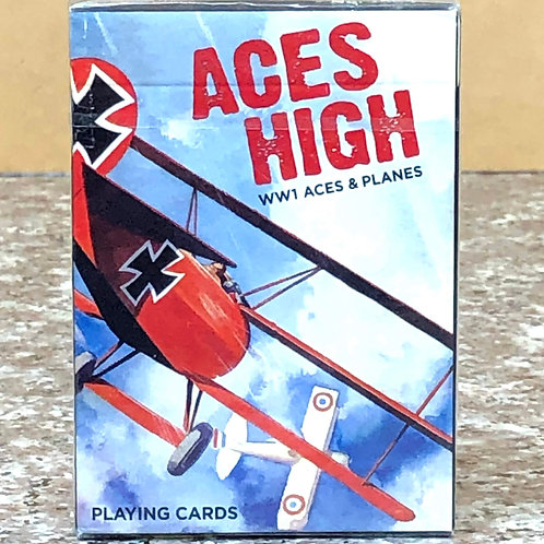 Aces High World War I Aces and Planes Playing Cards